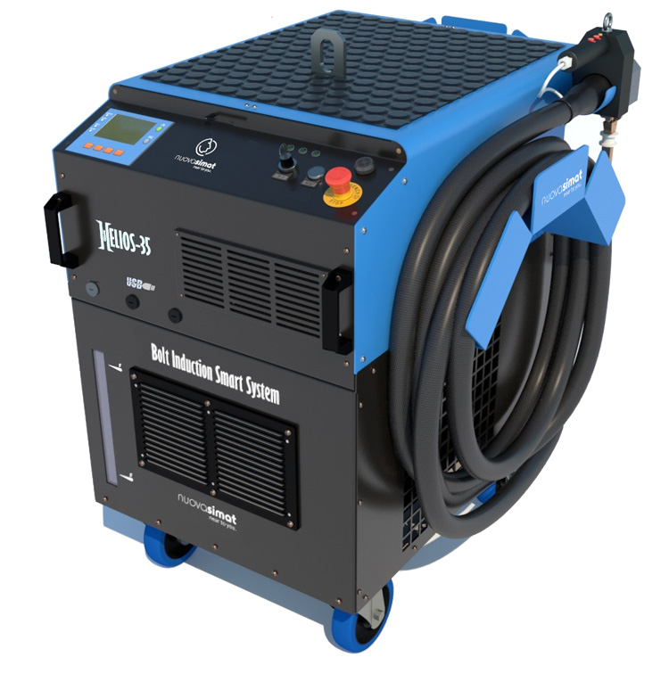 A machine for performing induction heating